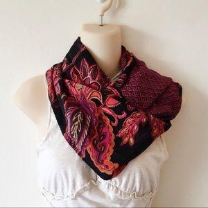 J. Jill Reversible Silk Infinity Scarf Floral